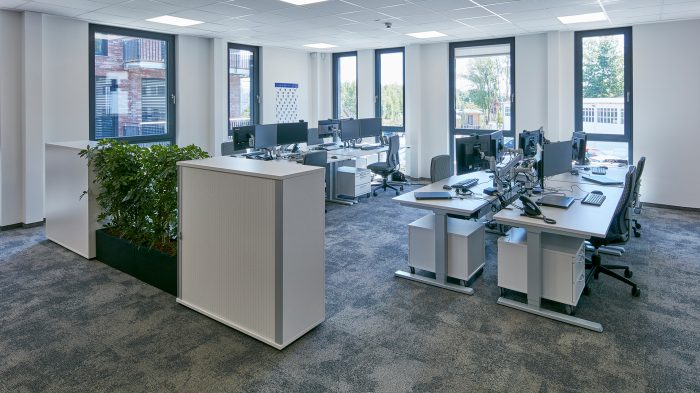 Großräumige Büroflächen
